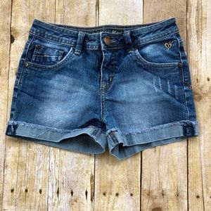 Justice denim jeans shorts 14R